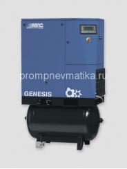 Винтовой компрессор Abac Genesis 11 с частотным преобразователем, осушителем и предварительным фильтром на ресивере 270 литров