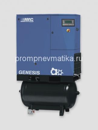 Винтовой компрессор Abac Genesis 7,508-270 с осушителем и предварительным фильтром на ресивере 270 литров