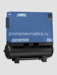 Винтовой компрессор Abac Genesis 2210-500 с частотным преобразователем, осушителем и предварительным фильтром на ресивере 500 литров