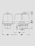 Реле давления CONDOR MDR 2/11 габаритные размеры