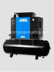 Винтовой компрессор Abac Micron 3 380В прямой пуск с осушителем на ресивере 200 литров
