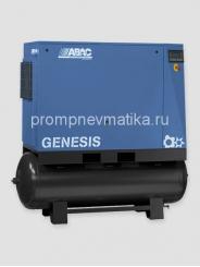 Винтовой компрессор Abac Genesis 22 с частотным преобразователем, осушителем и предварительным фильтром на ресивере 500 литров